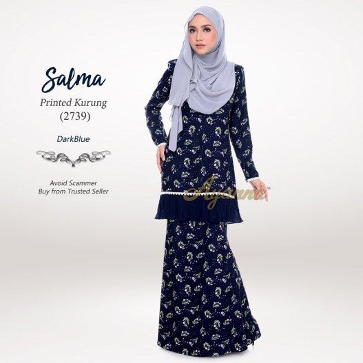 Salma Printed Kurung 2739 (DarkBlue)