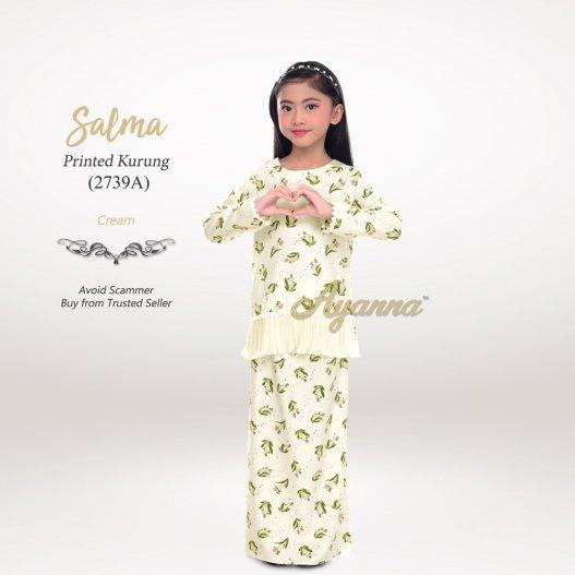 Salma Printed Kurung 2739A (Cream)