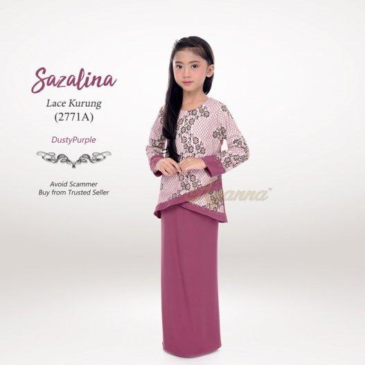 Sazalina Lace Kurung 2771A (DustyPurple)