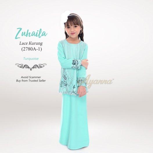 Zuhaila Lace Kurung 2780A-1 (Turquoise)
