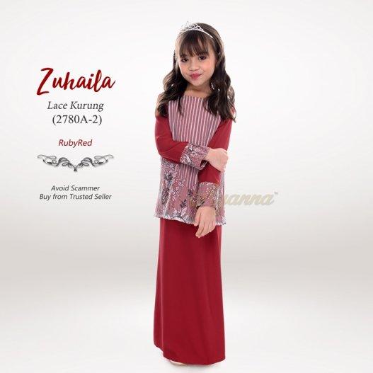 Zuhaila Lace Kurung 2780A-2 (RubyRed)