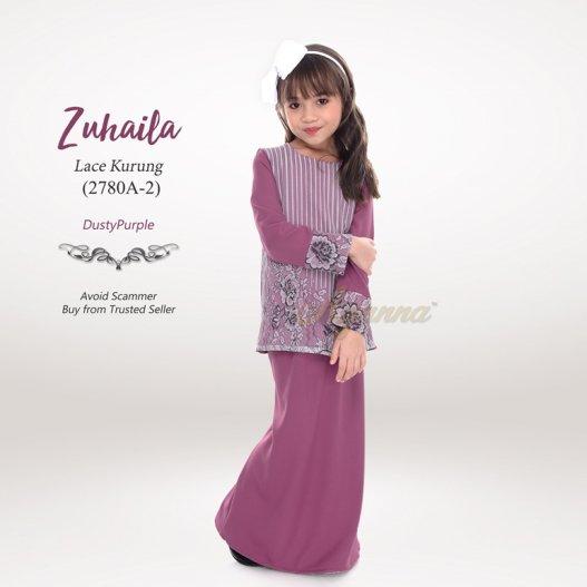 Zuhaila Lace Kurung 2780A-2 (DustyPurple)