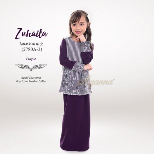 Zuhaila Lace Kurung 2780A-3 (Purple)