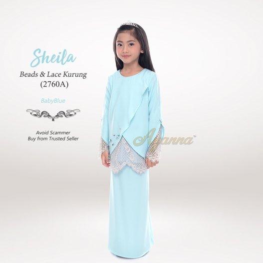Sheila Beads & Lace Kurung 2760A (BabyBlue)