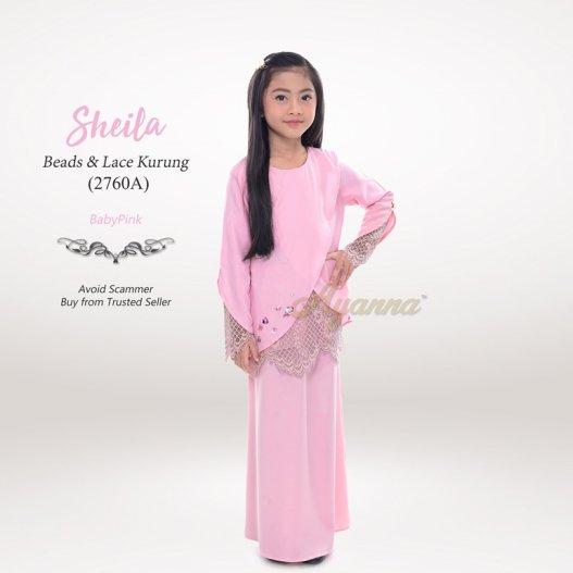 Sheila Beads & Lace Kurung 2760A (BabyPink)