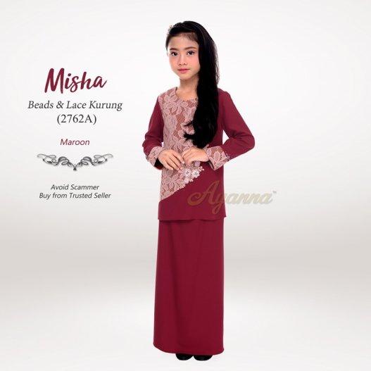 Misha Beads & Lace Kurung 2762A (Maroon)