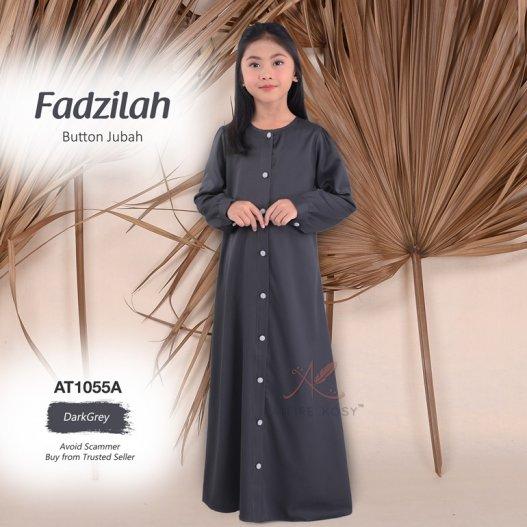 Fadzilah Button Jubah AT1055A (DarkGrey)