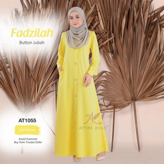 Fadzilah Button Jubah AT1055 (SoftYellow)