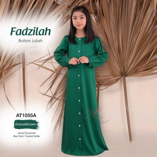 Fadzilah Button Jubah AT1055A (EmeraldGreen)