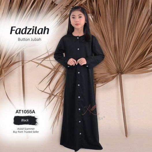Fadzilah Button Jubah AT1055A (Black)