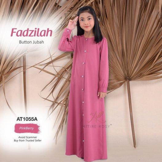 Fadzilah Button Jubah AT1055A (PinkBerry)