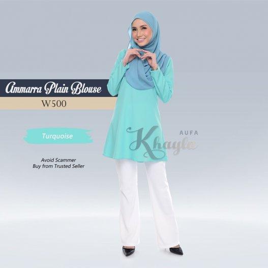 Ammarra Plain Blouse W500 (Turquoise)