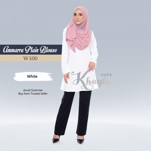 Ammarra Plain Blouse W500 (White)