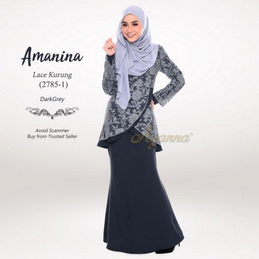 Amanina Lace Kurung 2785-1 (DarkGrey)