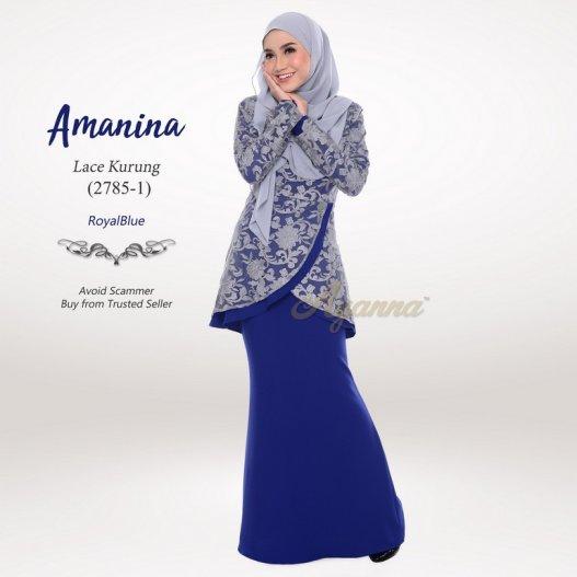 Amanina Lace Kurung 2785-1 (RoyalBlue)