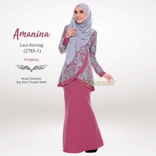Amanina Lace Kurung 2785-1 (PinkBerry)