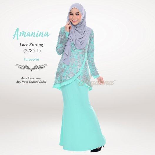 Amanina Lace Kurung 2785-1 (Turquoise)