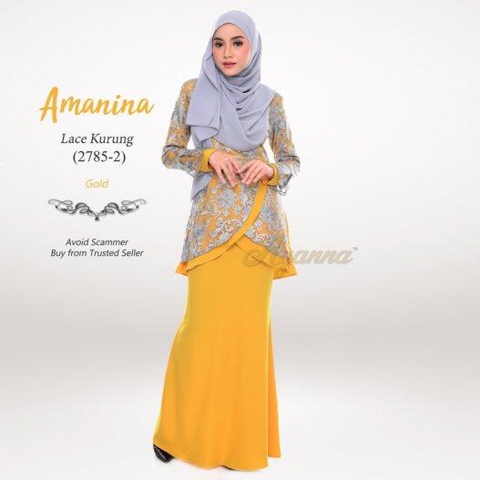 Amanina Lace Kurung 2785-2 (Gold)