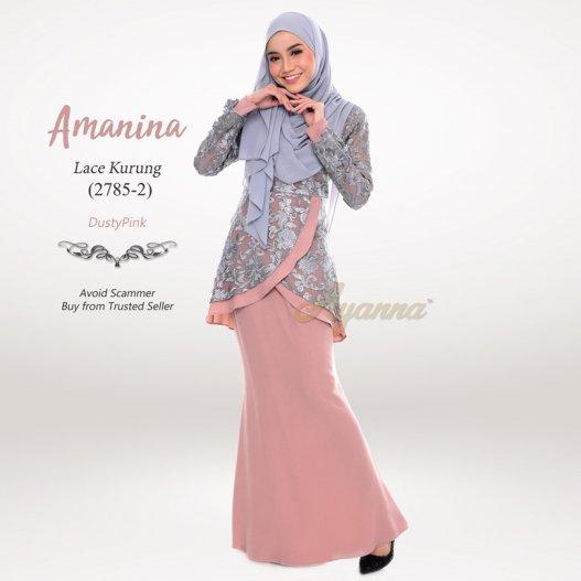 Amanina Lace Kurung 2785-2 (DustyPink)