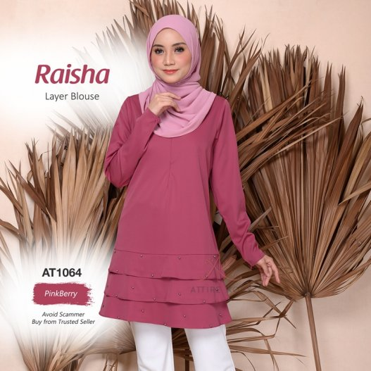 Raisha Layer Blouse AT1064 (PinkBerry)