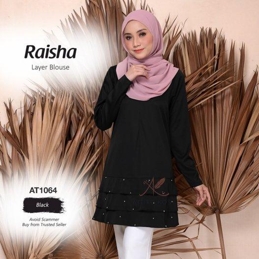 Raisha Layer Blouse AT1064 (Black)