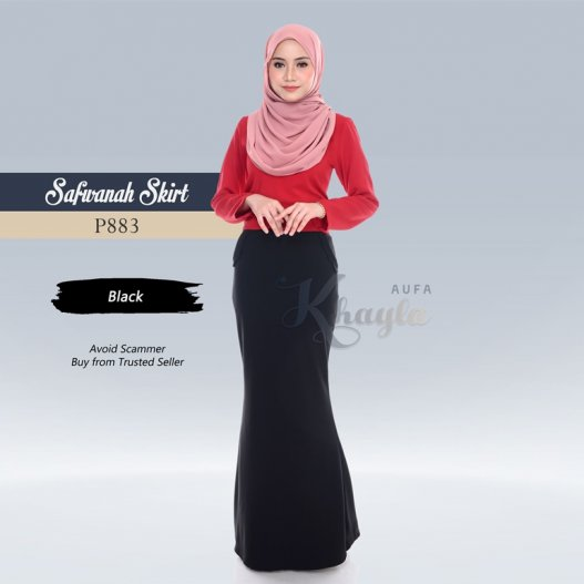 Safwanah Skirt P883 (Black)