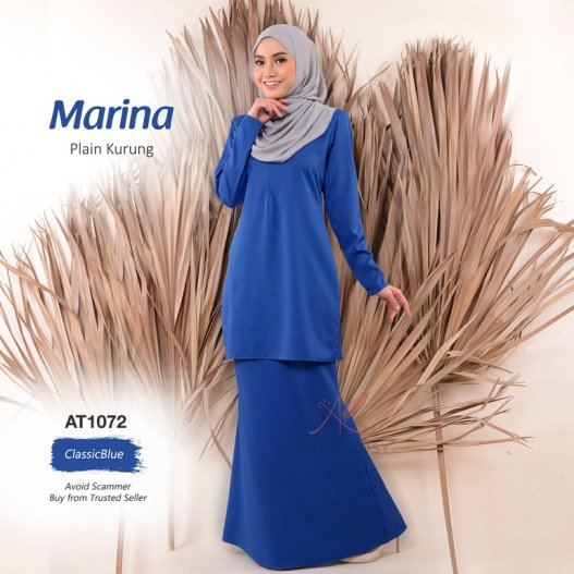 Marina Plain Kurung AT1072 (ClassicBlue)