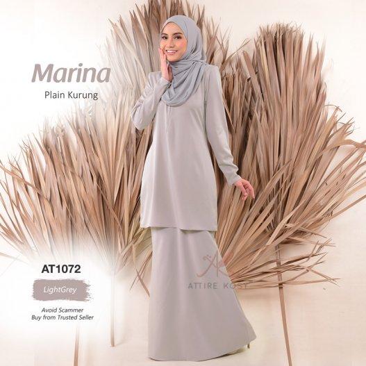 Marina Plain Kurung AT1072 (LightGrey)
