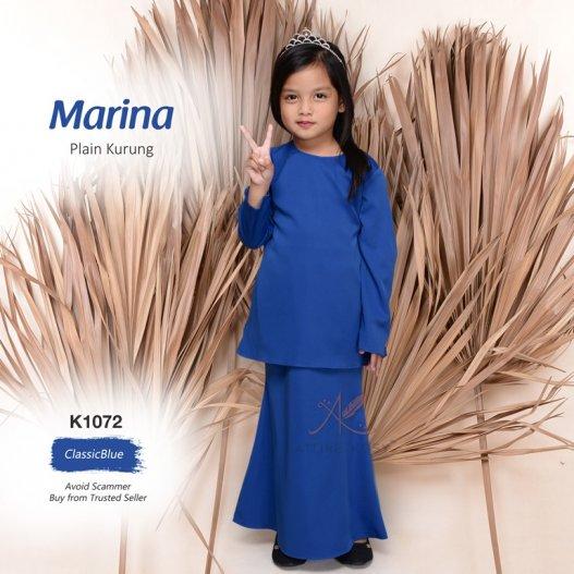 Marina Plain Kurung K1072 (ClassicBlue)