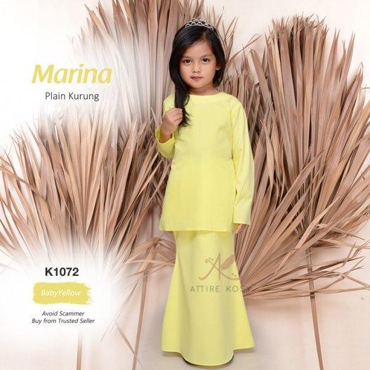 Marina Plain Kurung K1072 (BabyYellow)