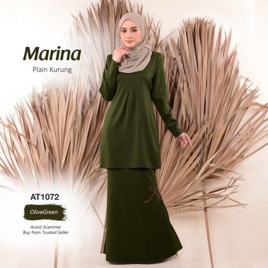 Marina Plain Kurung AT1072 (OliveGreen)