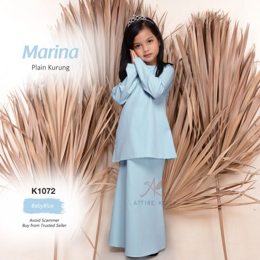 Marina Plain Kurung K1072 (BabyBlue)