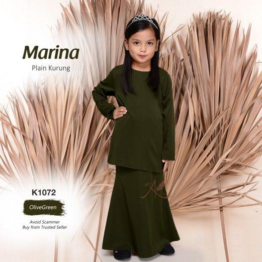 Marina Plain Kurung K1072 (OliveGreen)