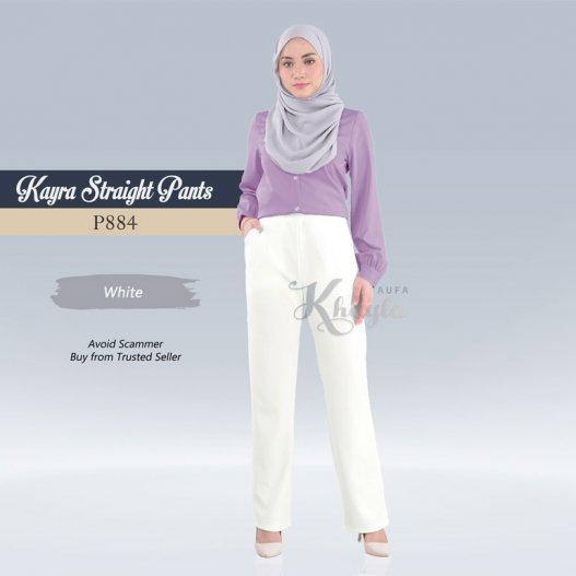 Kayra Straight Pants  P884 (White)