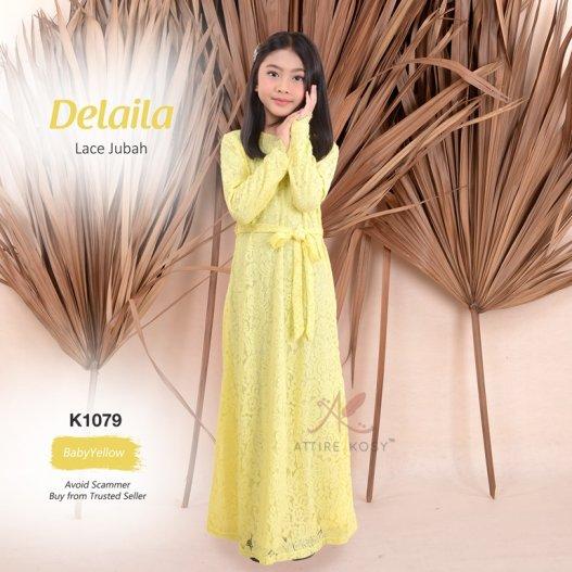 Delaila Lace Jubah K1079 (BabyYellow)