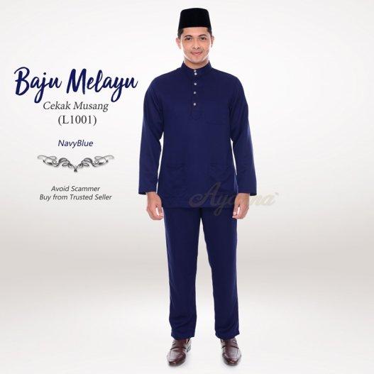 Baju Melayu Cekak Musang L1001 (NavyBlue)