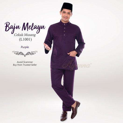Baju Melayu Cekak Musang L1001 (Purple)