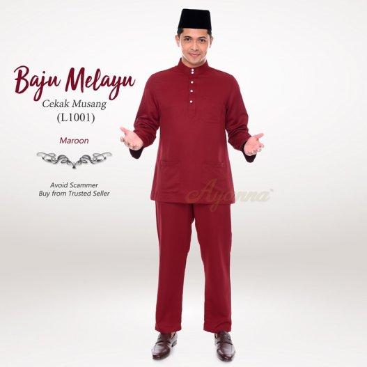Baju Melayu Cekak Musang L1001 (Maroon)