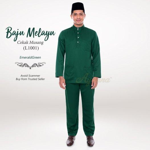 Baju Melayu Cekak Musang L1001 (EmeraldGreen)