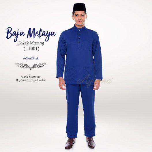 Baju Melayu Cekak Musang L1001 (RoyalBlue)