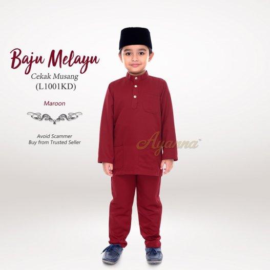 Baju Melayu Cekak Musang L1001KD (Maroon)