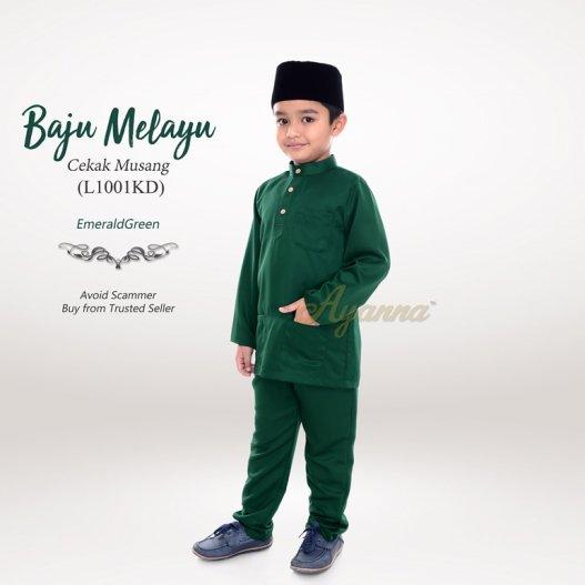 Baju Melayu Cekak Musang L1001KD (EmeraldGreen)