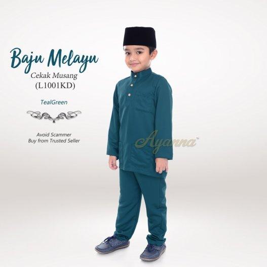 Baju Melayu Cekak Musang L1001KD (TealGreen)