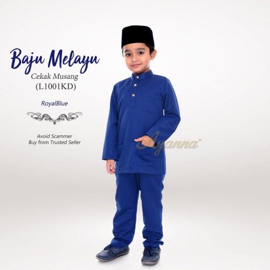 Baju Melayu Cekak Musang L1001KD (RoyalBlue)
