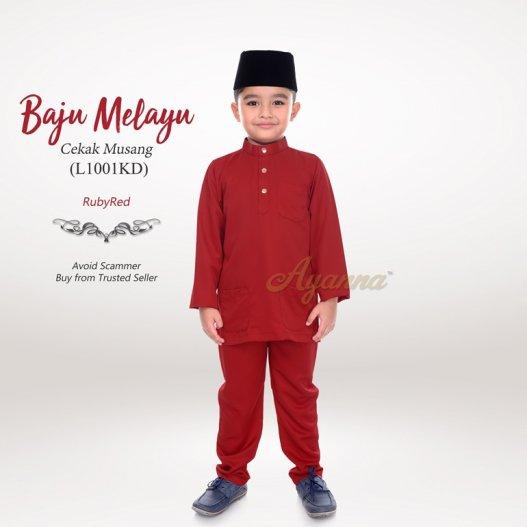 Baju Melayu Cekak Musang L1001KD (RubyRed)