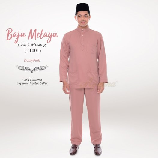 Baju Melayu Cekak Musang L1001 (DustyPink)