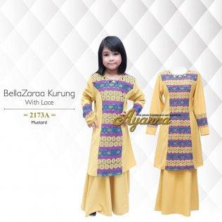 BellaZaraa Kurung With Lace 2173A (Mustard)