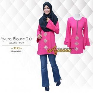 Syura Blouse 2.0 Dokoh Patch 3193 (MagentaPink)