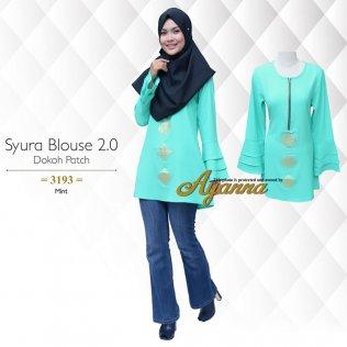 Syura Blouse 2.0 Dokoh Patch 3193 (Mint)