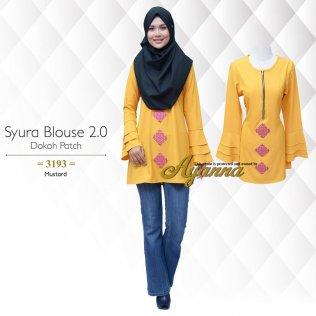 Syura Blouse 2.0 Dokoh Patch 3193 (Mustard)